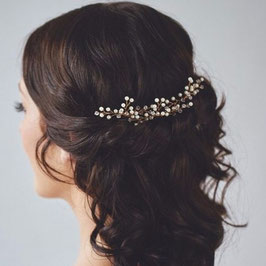 Set 3 Stück Haarnadeln Perlen Gold N60152 Braut Haarschmuck Hochzeit Brautschmuck Haare Perlen Gold