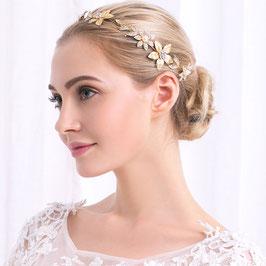Haarschmuck Braut Haardraht Gold Blumen Strass Vintage Haarschmuck Hochzeit N2441 Haarschmuck Festlich