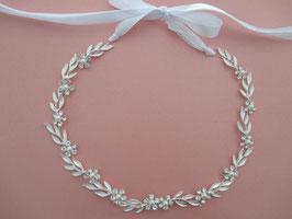 Haardraht Silber Blumen Strass Perlen Haarschmuck Braut Haarschmuck Hochzeit N22246