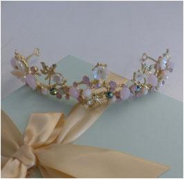 Diadem Braut Diadem Perlen Gold N1184 Haarschmuck Hochzeit