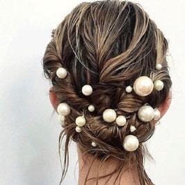 Haarnadeln Braut Haarnadeln Perlen Gold Haarschmuck Hochzeit Haarschmuck Festlich (Set 18 Stück) N60448