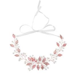 Haarband Rosegold Perlen N20520 Brautschmuck Haarband Rosegold Perlen Haarschmuck Braut Haarschmuck Hochzeit
