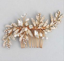 Haarschmuck Braut Haarkamm Gold Perlen Strass Haarschmuck Gold N37504 Brautschmuck Gold Kopfschmuck Braut Haarschmuck Hochzeit