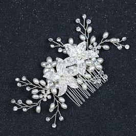 Haarschmuck Braut Haarkamm Strass Perlen Silber Haarschmuck Hochzeit Haarkamm N30200