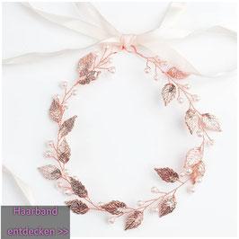 Haarband Rosegold Perlen Haarschmuck Braut Haarschmuck Hochzeit N21351