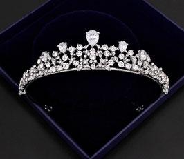 Haarschmuck Braut Diadem Hochzeit N1781 Brautschmuck Diadem Strass Silber