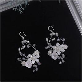Ohrringe Blumen Strass N5208