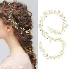 Haardraht Gold Perlen Strass Braut Kopfschmuck Hochzeit Haarschmuck Braut Haarschmuck Gold N27758 Brautschmuck Haare