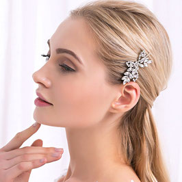Haarschmuck Braut Kopfschmuck Hochzeit Haarspange Strass Silber N40009 Brautschmuck Strass