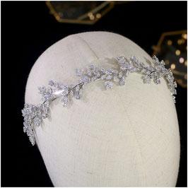 Brautschmuck Diadem Silber Strass Haarschmuck Braut Haarschmuck Hochzeit N1224-Silber Diadem Hochzeit