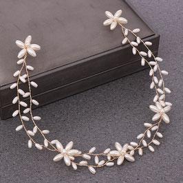 Haarschmuck Braut Haarband Perlen Gold N2906 Haarschmuck Braut Haarschmuck Hochzeit Haarschmuck Perlen