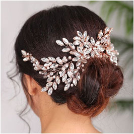 Haarkamm Rosegold Strass Haarschmuck Braut Haarschmuck Hochzeit N3180