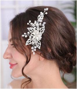 Haarkamm Perlen Strass Silber Haarschmuck Braut Haarschmuck Hochzeit Haarschmuck Kamm Silber Perlen N3375