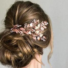 Haarschmuck Braut Haardraht Rosegold Perlen N22884 Haarschmuck Hochzeit
