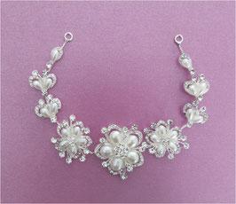 Braut Haardraht-Haarband Strass Silber N2617 Kopfschmuck Hochzeit