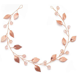 Haarband Rosegold Perlen Haarschmuck Braut Haarschmuck Hochzeit N22090 Brautschmuck Rosegold Perlen