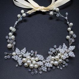 Haarband Braut Haarband Hochzeit Perlen Blumen Haardraht Braut Haardraht Perlen N20002