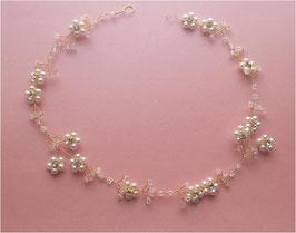 Haarschmuck Braut Haardraht Gold Blumen Perlen Haardraht für die perfekte Brautfrisur N2955 Brautschmuck Haardraht Haarschmuck Hochzeit