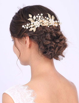 Set 2 Stück Haarnadeln Perlen Gold Haarnadeln Braut Haarnadeln Hochzeit Haarschmuck Braut Haarschmuck Hochzeit N68020
