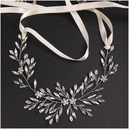 Haarband Silber Strass N2998 Haarschmuck Braut Haarschmuck Hochzeit