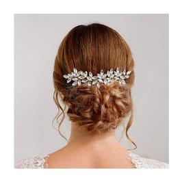 Haarschmuck Braut Haarkamm Hochzeit N33028-Silber Haarschmuck Hochzeit