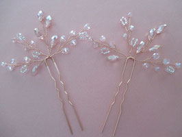 Haarnadeln Rosegold Haarschmuck Braut Haarnadeln Perlen Haarschmuck Hochzeit (Set 2 Stück) N6500