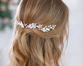 Set 3 Stück Haarnadeln Silber Blumen Perlen Haarnadeln Braut Haarschmuck Hochzeit N6317