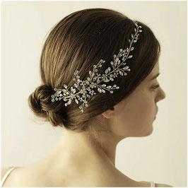 Haarband Strass Silber Haarschmuck Braut Haarschmuck Hochzeit N2318