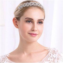 Diadem Perlen Strass Silber Haarschmuck Braut Diadem Hochzeit Haarschmuck Festlich N28098