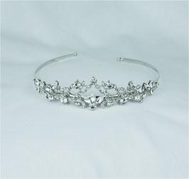 Haarschmuck Braut Diadem Tiara Silber Kristallsteinen N10009 Brautschmuck Diadem