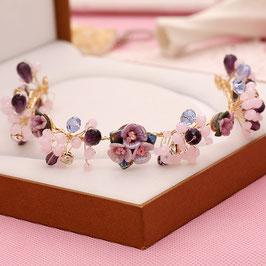 Haarband-Haardraht Blumen Perlen Haarschmuck Braut Haarschmuck Festlich Haarschmuck Hochzeit N22100