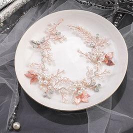 Haarband Rosegold Perlen Haardraht Braut Haarschmuck Braut Haarschmuck Hochzeit N21551