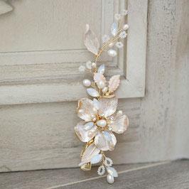 Haarklammer Perlen Strass Haarschmuck Hochzeit Haarschmuck Braut N4328