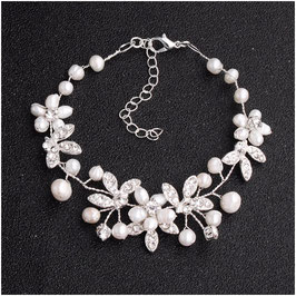 Armband Perlen Strass N5811