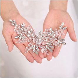 Haardraht Strass Perlen Silber Haarschmuck Braut Haarschmuck Hochzeit N28230