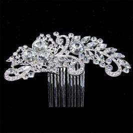 Haarschmuck Braut Haarkamm Kristall Silber N38201 Brautschmuck