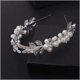 Haarreif Perlen Silber Haarschmuck Braut Haarschmuck Hochzeit N1819