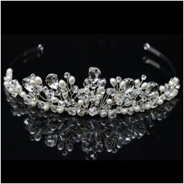 Diadem Perlen Strass Silber Haarschmuck Braut Haarschmuck Hochzeit N1784 Diadem Hochzeit