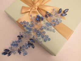Haardraht Perlen Haarschmuck Braut Kopfschmuck Braut Haarschmuck Hochzeit N22550 Haarschmuck in Blau