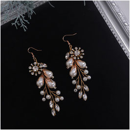 Ohrringe Strass Perlen N5300