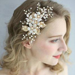 Haarschmuck Braut Haarklammer Gold Blumen Perlen Haarschmuck Hochzeit Haarschmuck Gold N4777