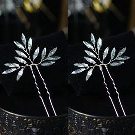 Haarnadeln Silber Haarschmuck Hochzeit (Set 3 Stück) N6194