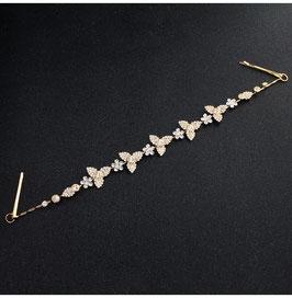 Haarschmuck Braut Haardraht Gold Vintage N2956 Brautschmuck Haardraht Gold Strass Haarschmuck Festlich