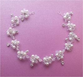 Haardraht Perlen Silber Strass Braut Haarschmuck Perlen N2322