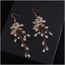 Ohrringe Strass Perlen N5100