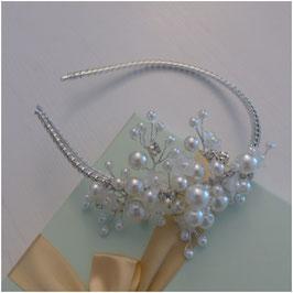 Haarreif Perlen Silber Haarschmuck Braut Haarschmuck Hochzeit N1820
