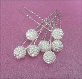 Set 12 Stück Braut Haarnadeln Perlen Silber Braut Haarschmuck Perlen N6909