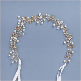 Haarband Gold Blumen Perlen Haarband Braut Haarschmuck Braut Haarschmuck Hochzeit Haarschmuck Gold N28700