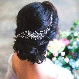 Haarkamm Perlen Silber Haarschmuck Braut Haarschmuck Hochzeit Haarschmuck Kamm Perlen Silber N30811