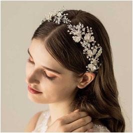 Haarschmuck Braut Haarband Silber Perlen N2184 Haarschmuck Hochzeit Haarschmuck Braut